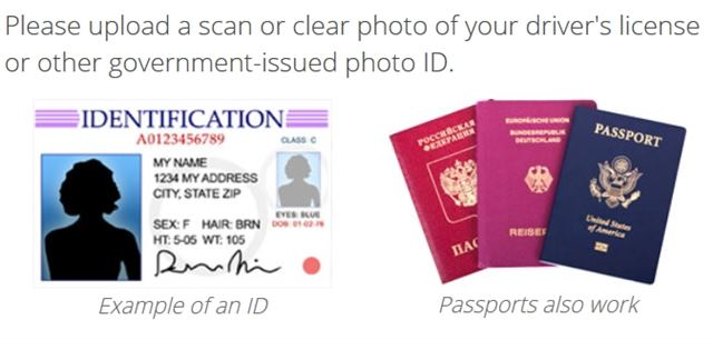 Examples of valid photo ID